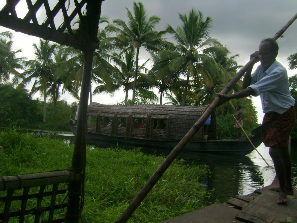 Boat in the backwaters of Kerala