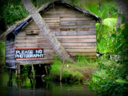 A signboard in the backwaters of Kerala